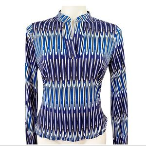 laundry By Design Blue Top Blouse Sz Small
